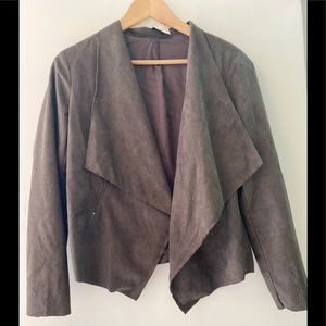 Lush Faux Suede Jacket Size Small